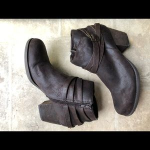 Belted Suede Ankle Boot